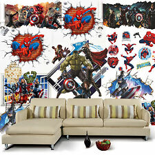 The Avengers 3D Wall Mural Removable Wall Sticker Art Vinyl Decal Room DIY Decor