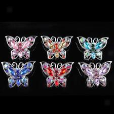 Retro Vintage Charms Brooch Pin butterfly Crystal Rhinestone Wedding Bridal
