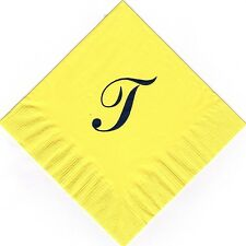 Extra Large Single Monogram T 50 Personalized printed luncheon dinner napkins