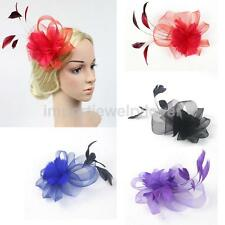 Bridal Ladies Prom Feather Fascinator Hair Clip Headpiece Decoration Fancy Dress