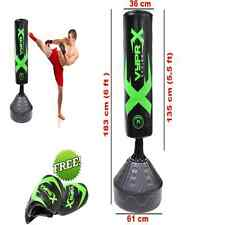Free Standing Boxing Punch Bag 6ft Fitness Heavy Duty Kick Thai MMA Training