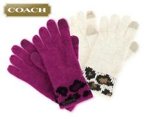 Coach Ocelot Tech Touch Knit Glove F86022 Multicolor New With Tag