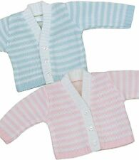 BabyPrem Preemie Tiny Baby Girls Boys Clothes Blue Pink Striped Cardigan Sweater