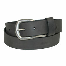 New Boston Leather Men's Oil Tanned Pull Up Leather Belt with Removable Buckle