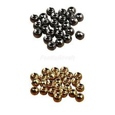 25 x Tungsten Slotted Fly Tying Beads Nymph Head Ball Beads DIY 2.4/3.3/4/4.6mm