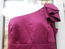 BNWT Teatro body sculpt one shoulder magenta purple dress size 18 20 party