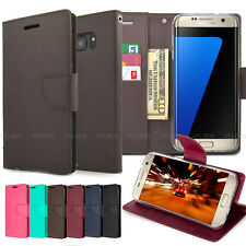 Slim Card flip Slot wallet leather [Goospery diary] Case cover for iPhone Galaxy