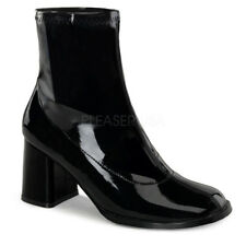 Funtasma GOGO-150 Women's Casual Black Block Heel Ankle Gogo Boots