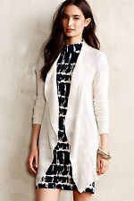 Anthropologie Lotta Ruffle Wrap Lightweight Ivory Cardigan M-L Knitted & Knotted
