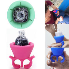 New Soft Silicone Nail Art Wearable Nail Polish Bottle Holder Fit for Nail Art