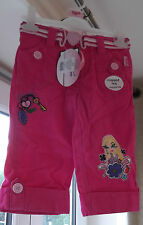 Girls Trousers Bratz Cropped Leg in Shocking Pink Belt with Charm LOW PRICE GIFT