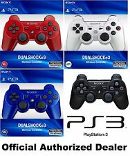 Official Sony PlayStation 3 PS3 Gaming Wireless Controller Red +More Dualshock 3