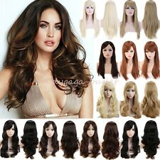Classy Women Hair Wig Long Straight Cosplay Daily Party Dress Synthetic Full Wig