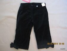 Gymboree Family Portrait Black Velveteen Bow Knickers Pants 2-2T NWT New HCTS