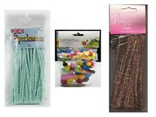 Craft Pom Poms + Pipe Cleaners - Tinsel or Plain