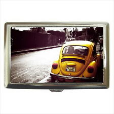 NEW Cigarette Credit Business Card Holder Yellow Volkswagen Beetle VW Retro