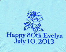 ROSE LOGO 50 Personalized printed LUNCHEON DINNER napkins