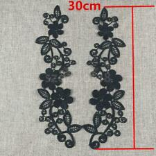 1Pair Floral Embroidered Lace Fabric Applique Lace Wedding Dress Sewing Patches