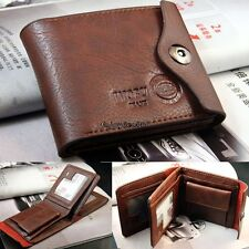 Men Boy Leather Bifold ID Cards Holder Coin Pocket Bag Slim Purse Wallet OO55