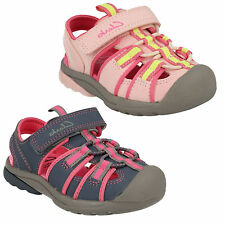 INFANT GIRLS CLARKS BEACH TIDE RIPTAPE CASUAL PINK FLAT SUMMER SANDALS SHOES