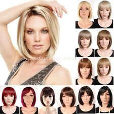 Women Bob Haircut Wig Sexy Short Straight Heat Resistant Cosplay Party Daily Wig