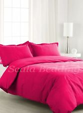 1000-TC COMPLETE USA BEDDING SET SOLID HOT PINK 100% COTTON CHOOSE SIZE AND ITEM