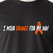 I wear orange for my dad! Fight Cancer 25% Donation to Leukemia Funny T-Shirt