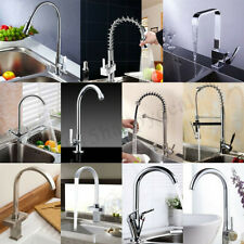 Kitchen Sink Mixer Tap Monobloc/Waterfall/Pull Out Spray/ Swivel Brass Faucet UK