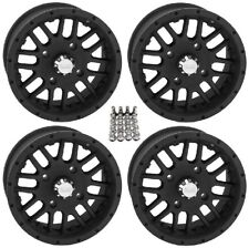 "QuadBoss SCOVILLE ATV Wheels/Rims Black 14"" (5+2)  Sportsman RZR Ranger"