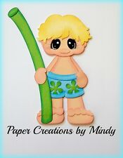 Craftecafe Mindy Summer Pool Noodle Swim boy premade paper piecing scrapbook