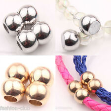 Hot Selling 5/10Pcs Golden/White K Magnetic Clasps Jewelry Finding Connectors