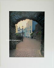 """Tenby """"Through the Arch at  Dusk"""" Limited Edition Mounted Photographic Print"""