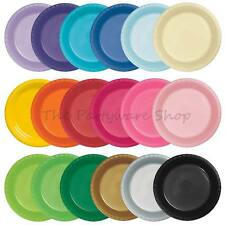 """20 Good Quality ROUND PLASTIC PLATES 9"""" for Birthday Party BBQs Events Catering"""