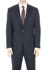Michael Kors Regular Fit Navy Blue Pinstriped Two Button Wool Suit
