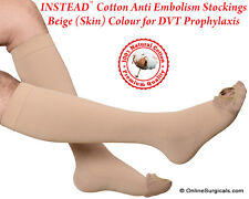 INSTEAD Cotton Anti Embolism Stockings Knee Length for DVT Prophylaxis