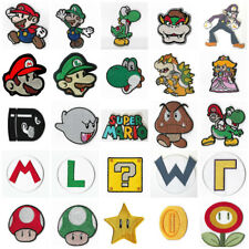 Super Mario Bro's Patches Embroidered Iron/Sew on Badges Aufnäher Toppa Parche