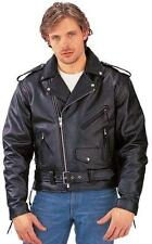 UNIK INTERNATIONAL PREMIUM GENUINE LEATHER MOTORCYCLE JACKET 12.00  44-46 NIB
