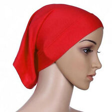 Women's Islamic Muslim Head Scarf Cotton Underscarf Hijab Cover Head Wrap Bonnet