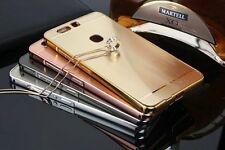 Metal Bumper Frame Case Protective Mirror Back Cover for iPhone Huawei LG Phones