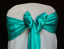 LOT OF Seagreen Satin Chair Sash Bow Band Wedding Banquet Decoration...FREE S&H