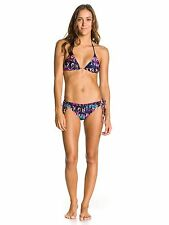 ROXY TIKI TRI 70S LOWRIDER TIE SIDE WOMENS BIKINI SWIMWEAR SUMMER