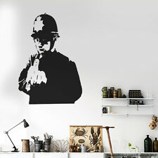 Banksy Street Arts Wall Decal Modern Home Stickers London Police Banksy Graphic