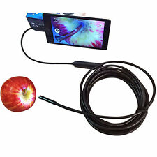 7mm 3.5M Android Phone Endoscope IP67 Inspection Borescope HD LED Camera video