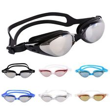 New Adult Black UV Protection Anti Fog Adjustable Swimming Swim Goggles Glasses