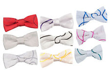 Boy's Scroll Satin Evening Special Occasion Wedding Pre-Tied Bow Tie