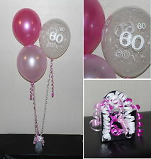 60th  Birthday Balloons - DIY Party Decoration Kit  Clusters For  5  - 15 Tables
