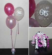 65th  Birthday Balloons - DIY Party Decoration Kit  Clusters For  5  - 15 Tables