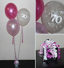 70th  Birthday Balloons - DIY Party Decoration Kit  Clusters For  5  - 15 Tables