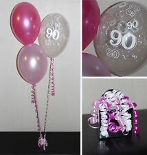 90th  Birthday Balloons - DIY Party Decoration Kit  Clusters For  5  - 15 Tables