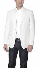 Club Room Classic Fit Tan Textured Two Button Cotton Linen Blazer Sportcoat